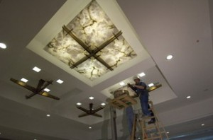 Onyx Ceiling Glass Cladding Stone Panel